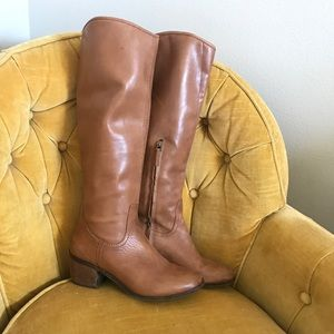 Sam Edelman Brown Tall aside Zipped Boots👢